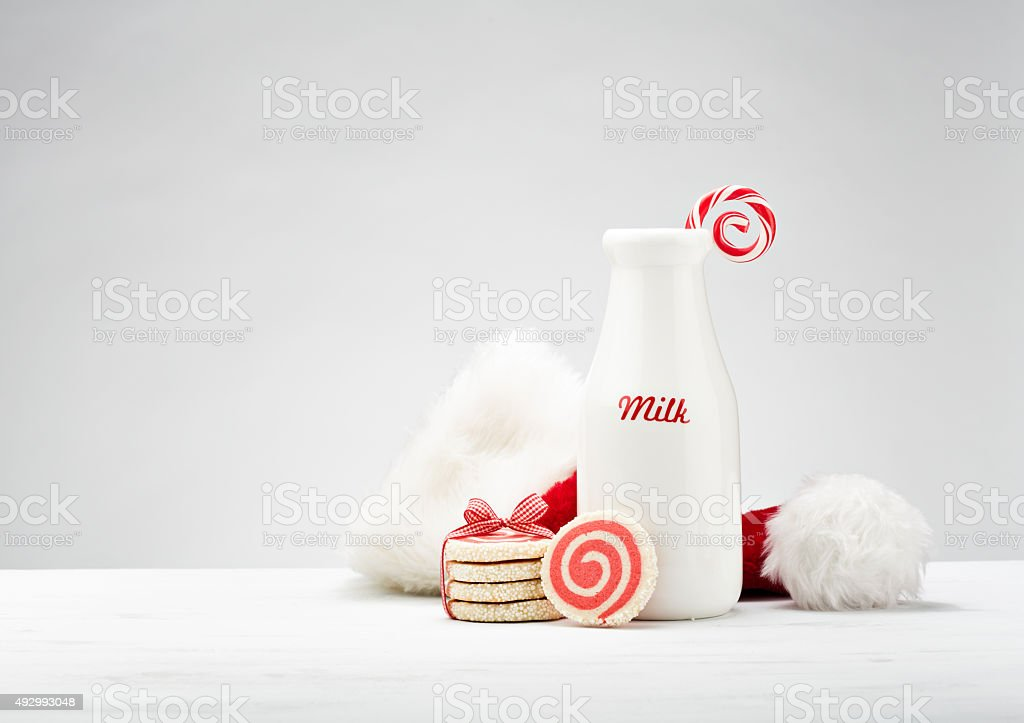 Milk and Cookies for Santa stock photo