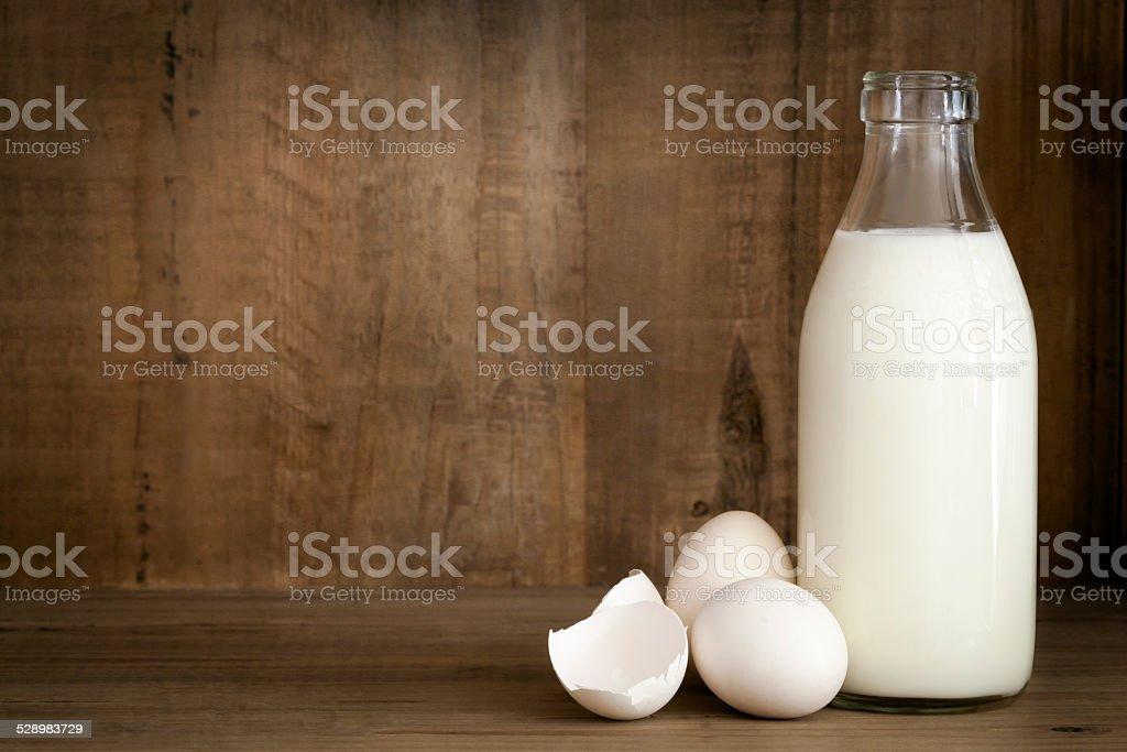 Milk and Eggs Food Background stock photo