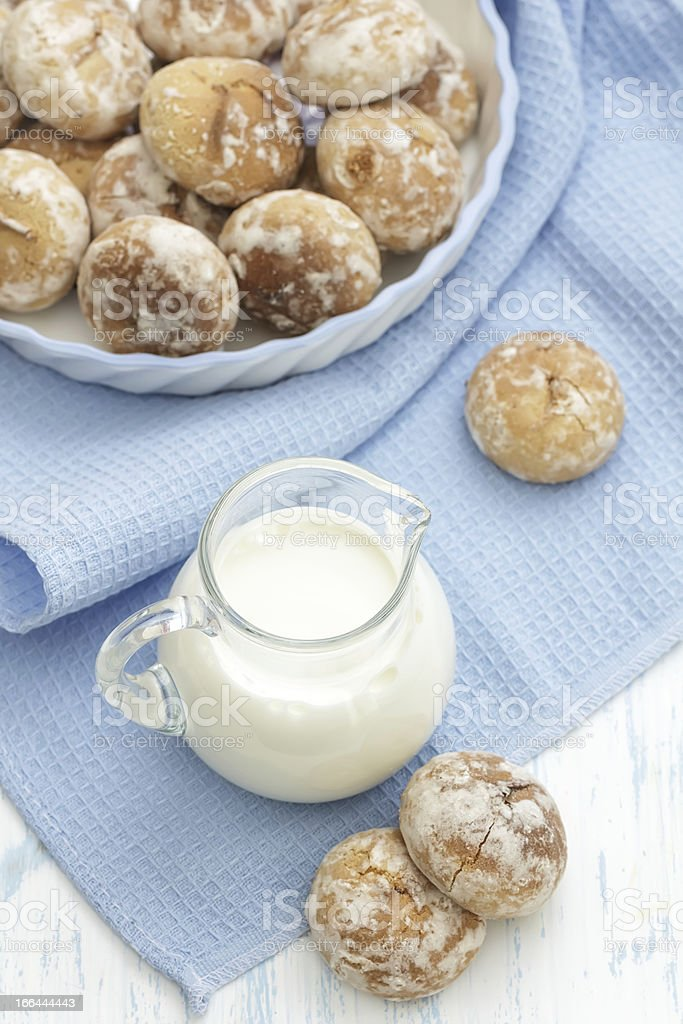 Milk and gingerbread royalty-free stock photo