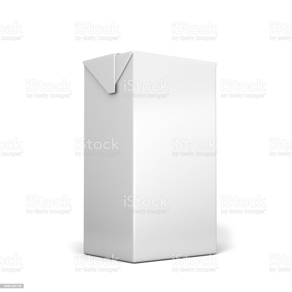 Milk and juice White boxes for retail package mock up. stock photo