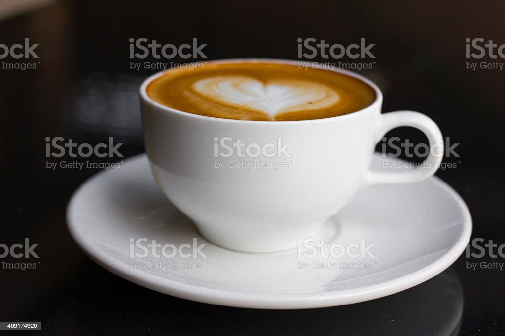 Latte art. stock photo