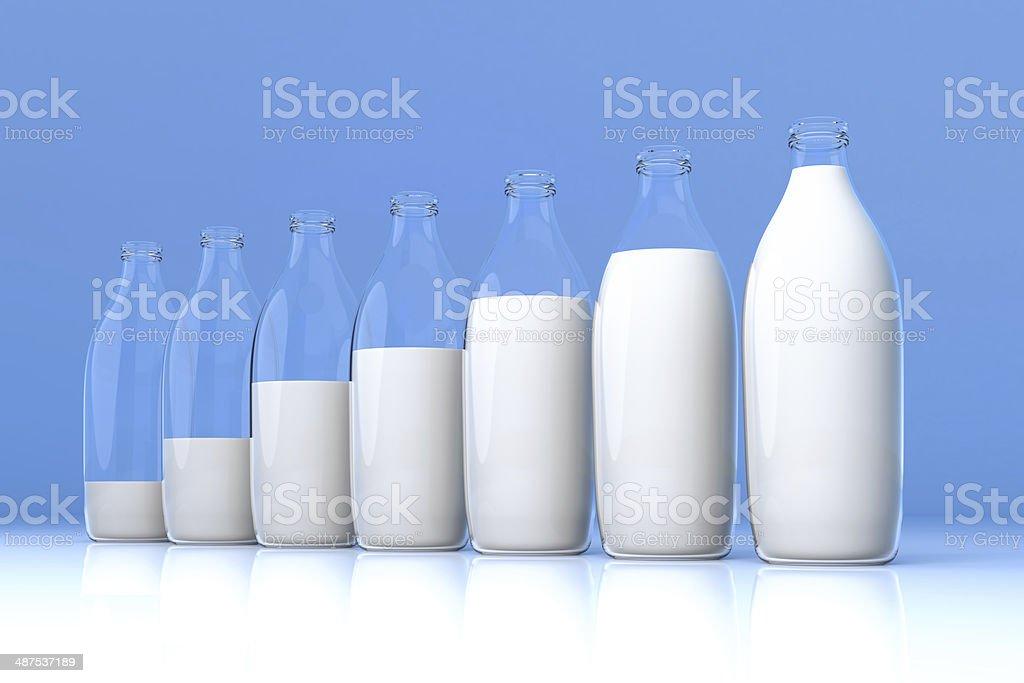 Milk - Bar Graph stock photo