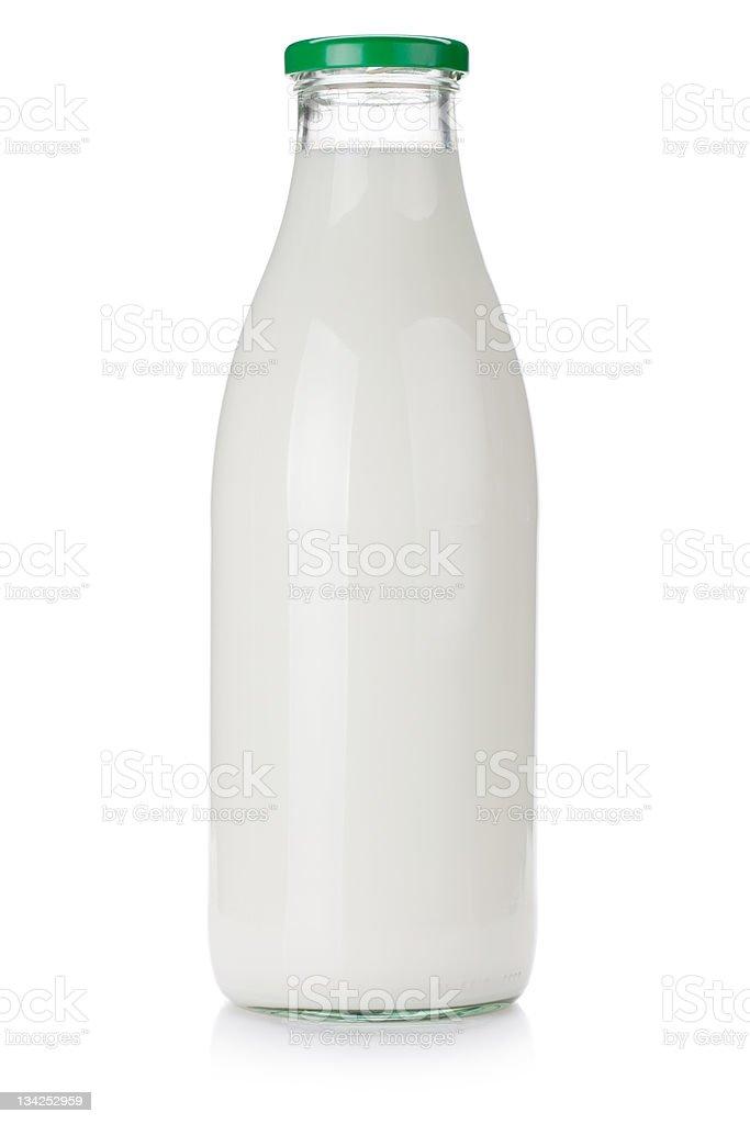 Milk bottle stock photo