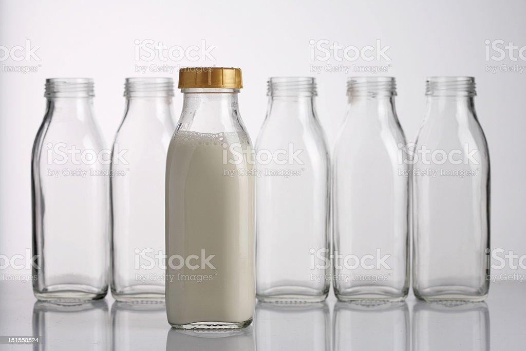milk bottle royalty-free stock photo