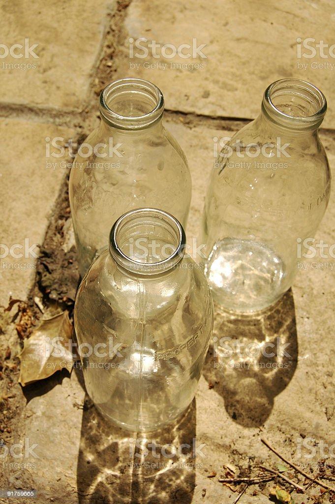milk bottles stock photo