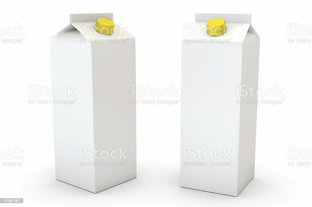 Milk Box on White royalty-free stock photo