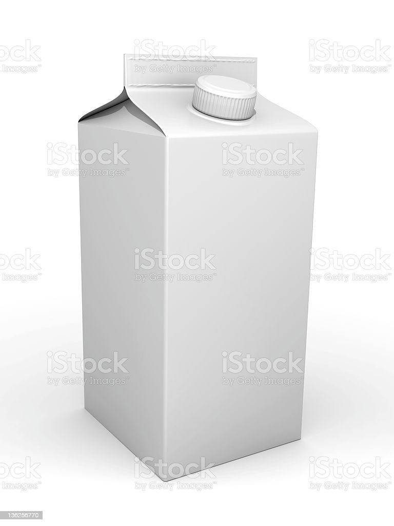 Milk box royalty-free stock photo