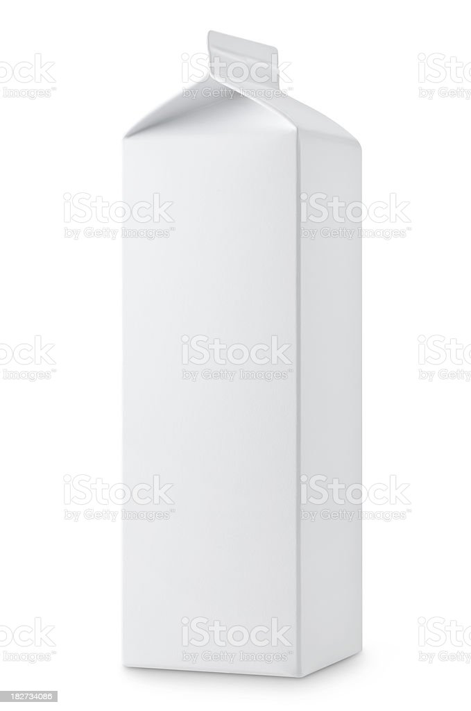 Milk box stock photo