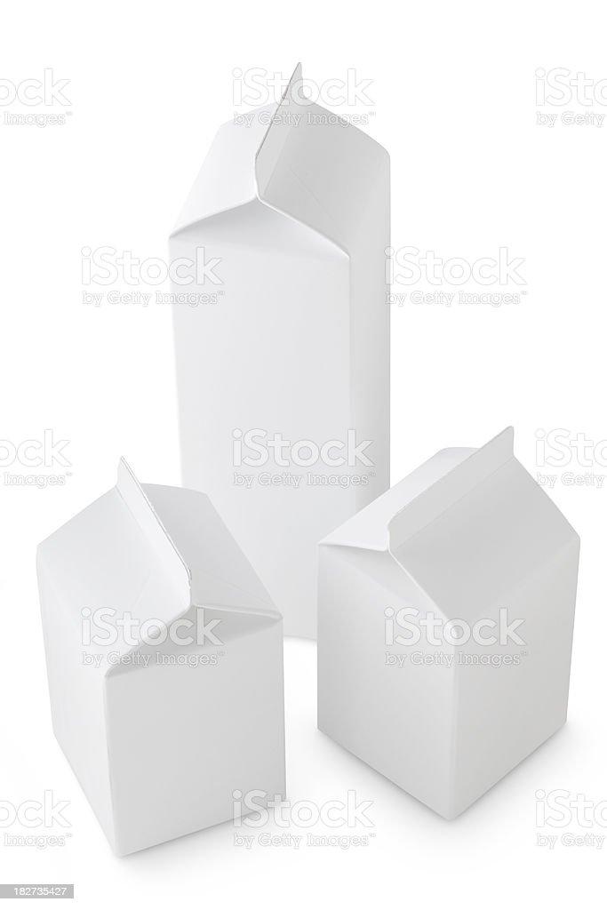 Milk boxs stock photo