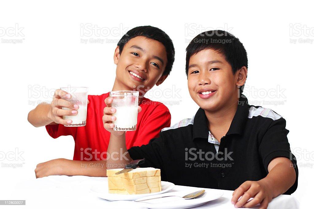Milk boys royalty-free stock photo