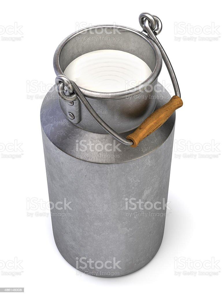 Milk bucket stock photo