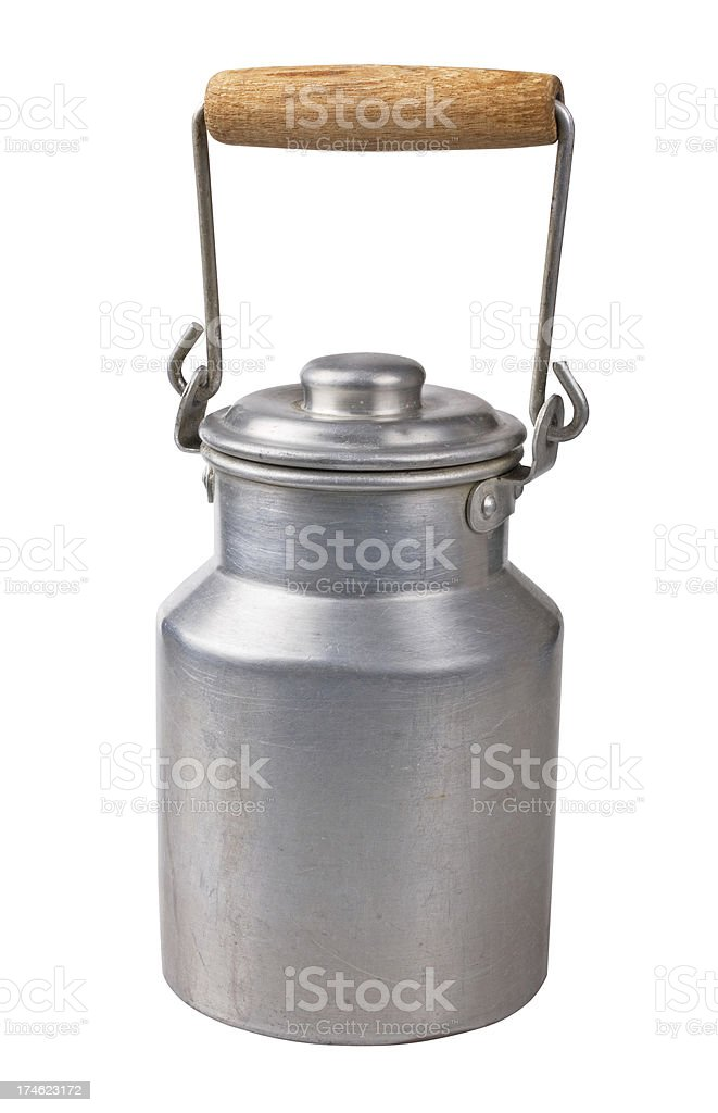 Milk can royalty-free stock photo