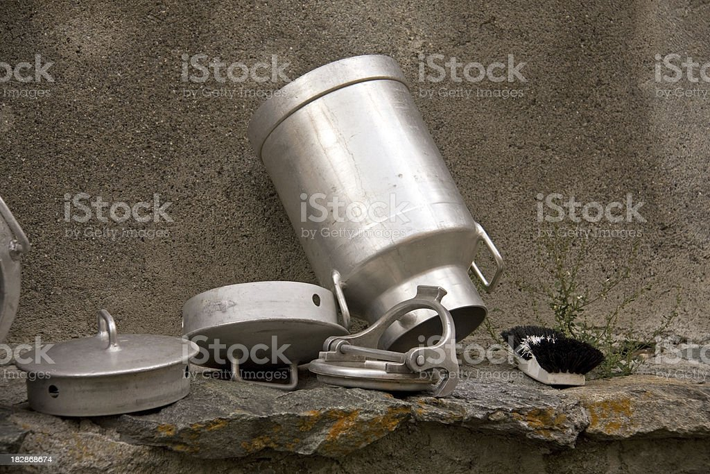 Milk Canister, Milchkanne stock photo