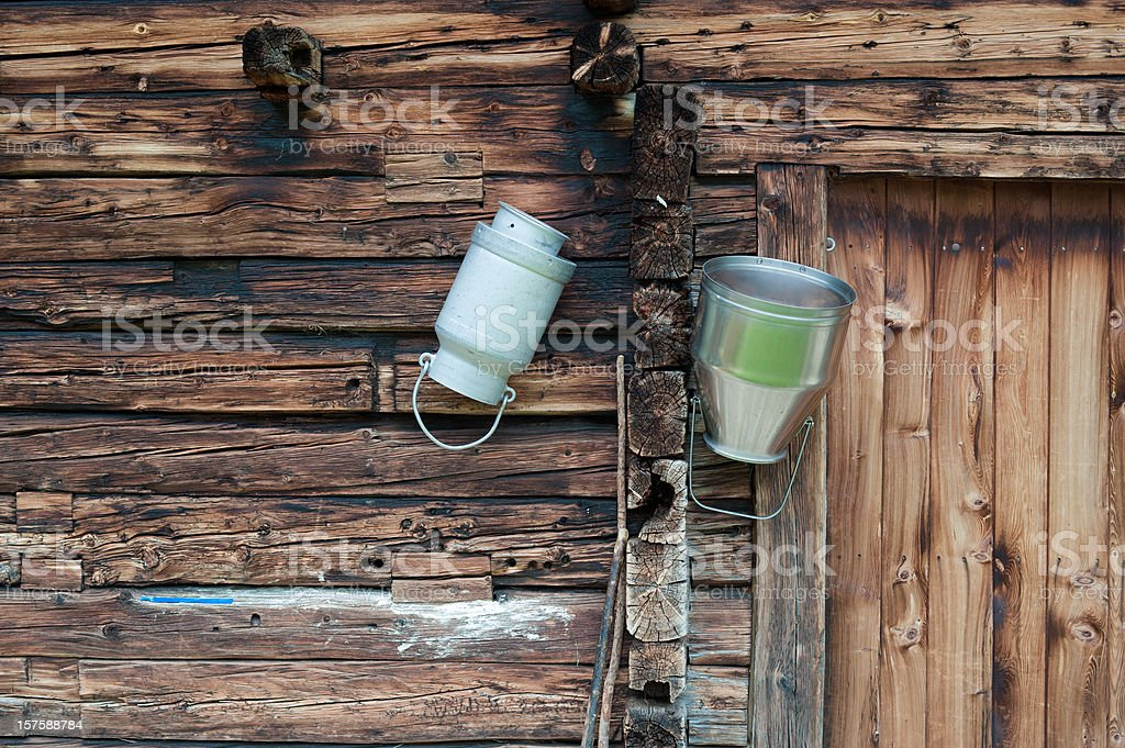 Milk Canister stock photo