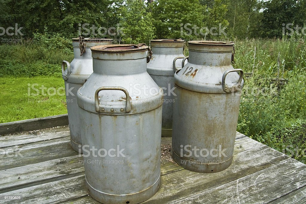 Milk Cans royalty-free stock photo