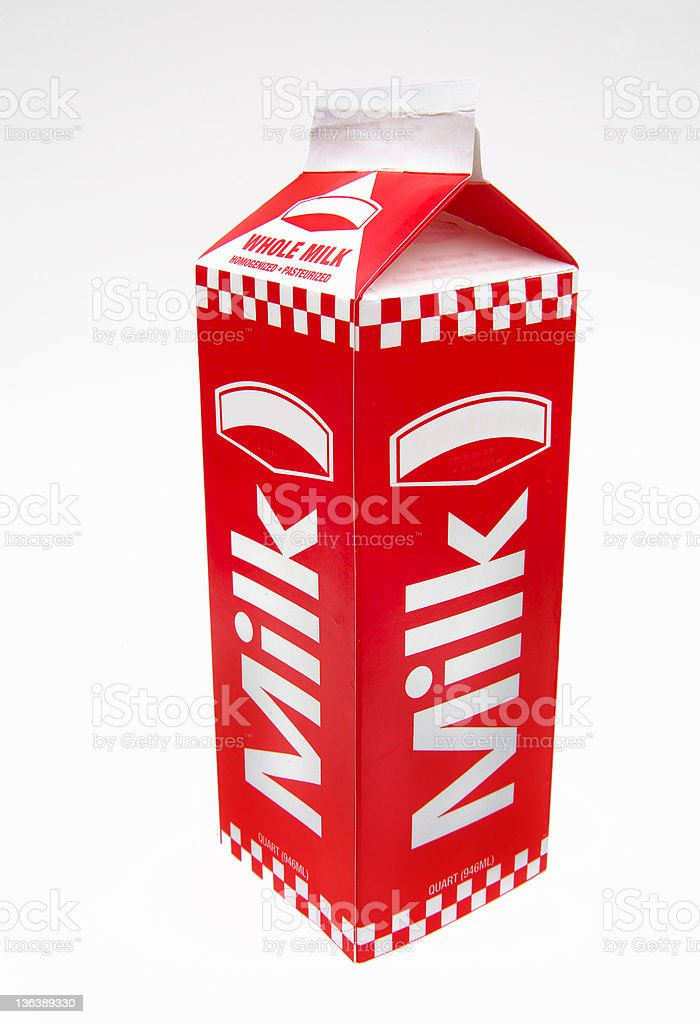 milk carton stock photo