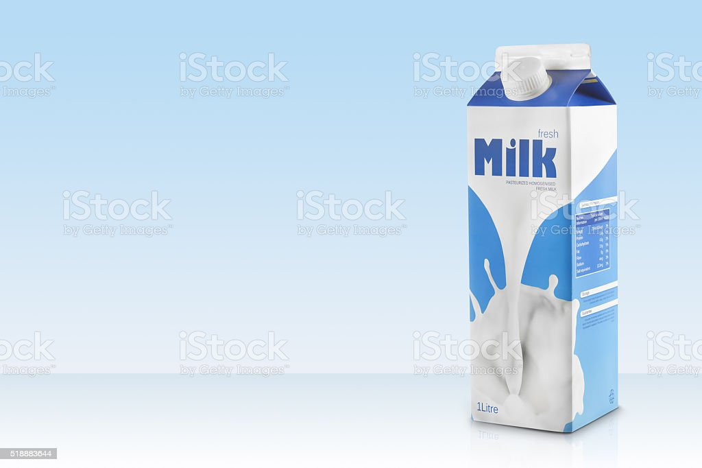 Milk Carton with copyspace stock photo