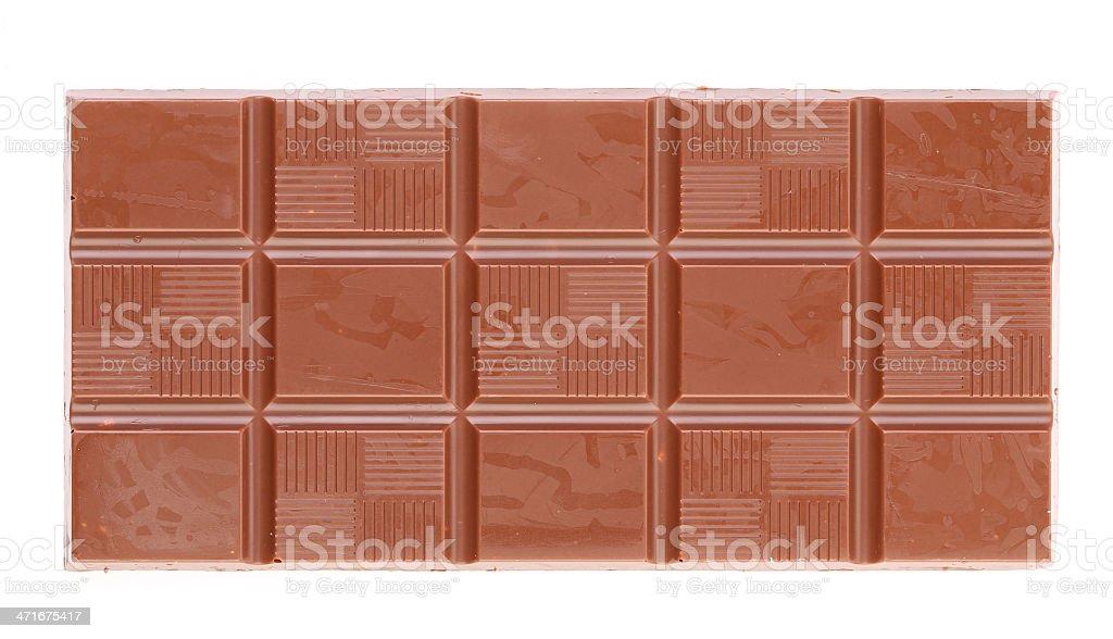 Milk chocolate bar. royalty-free stock photo