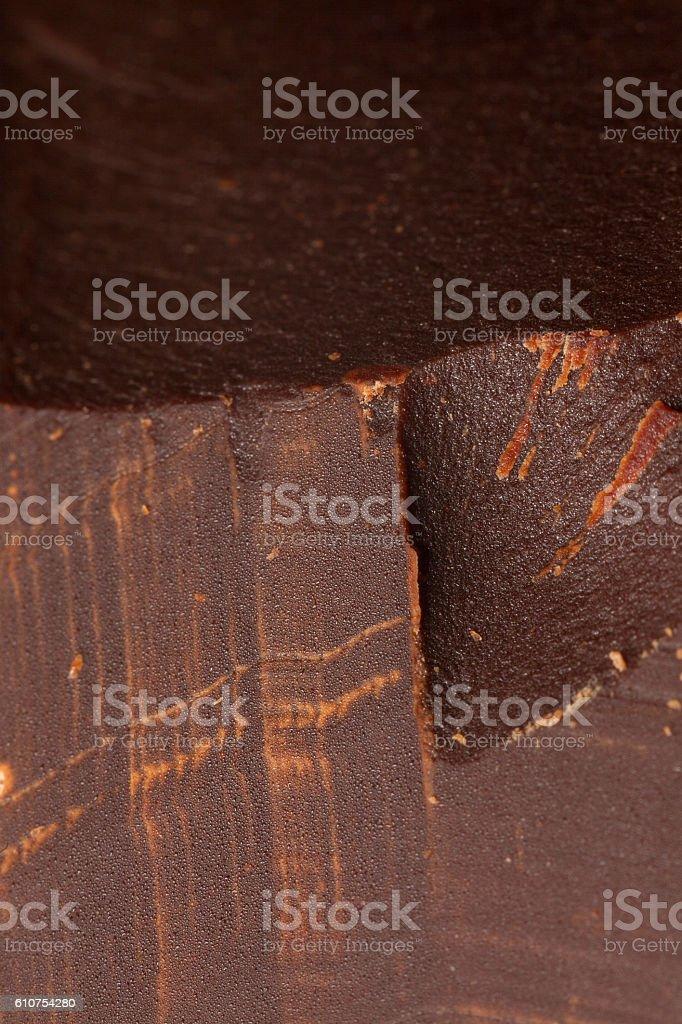 Milk Chocolate Macro Detail stock photo