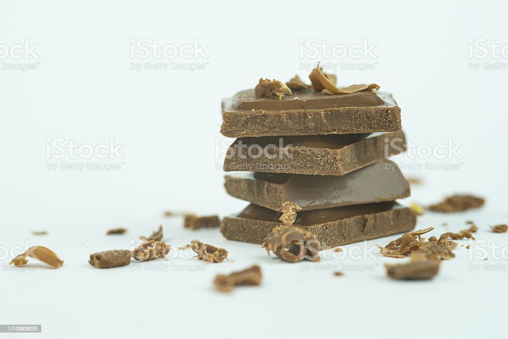 Milk Chocolate Parts royalty-free stock photo