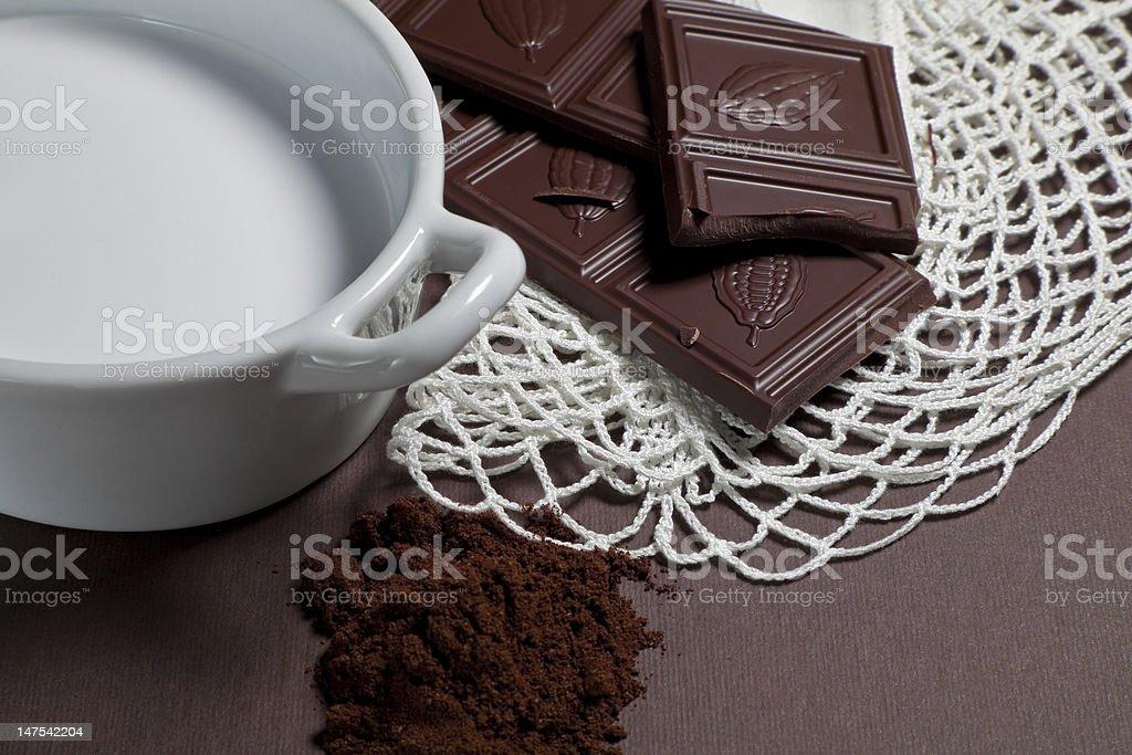 Milk chocolate royalty-free stock photo