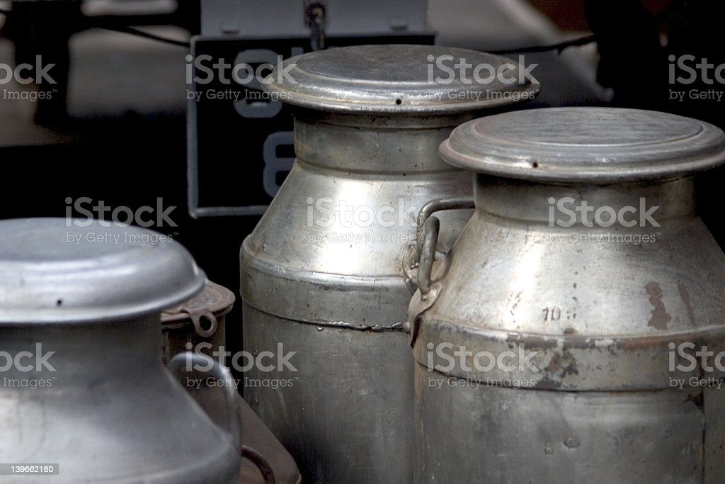 Milk churns royalty-free stock photo