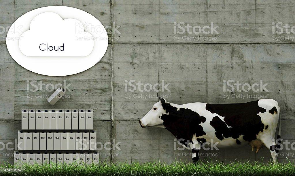 milk clouding royalty-free stock photo