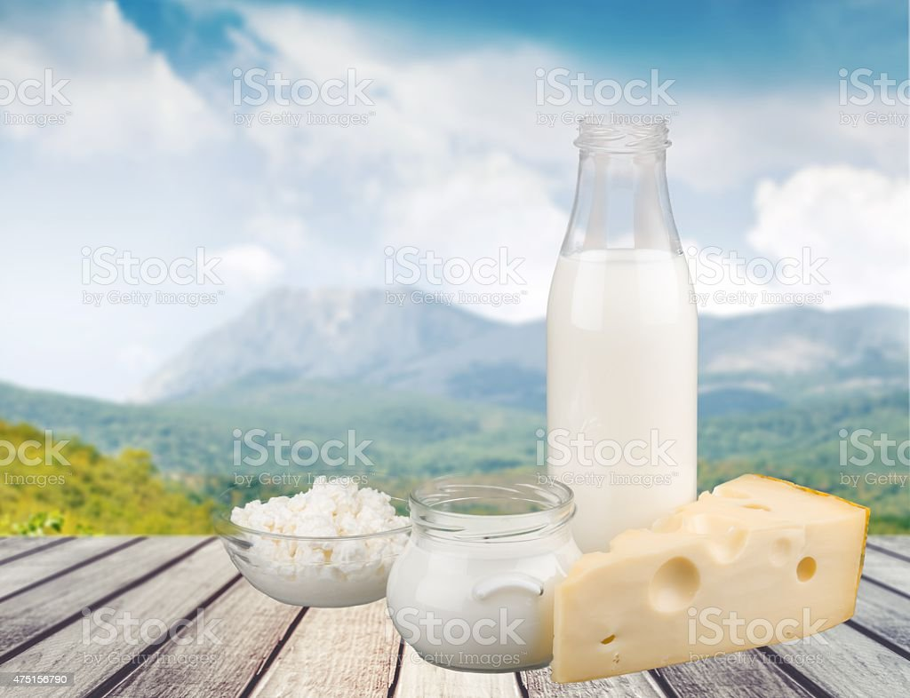 Milk, Dairy Product, Cheese stock photo