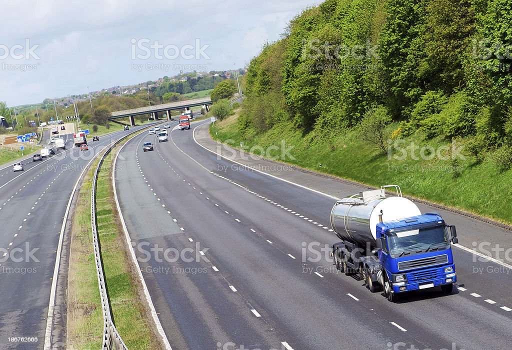 Milk Delivery Tanker royalty-free stock photo