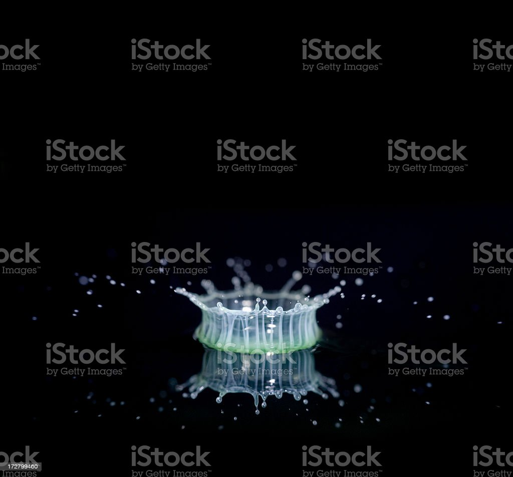 Milk Drop Splash as it Hits Water Surface royalty-free stock photo
