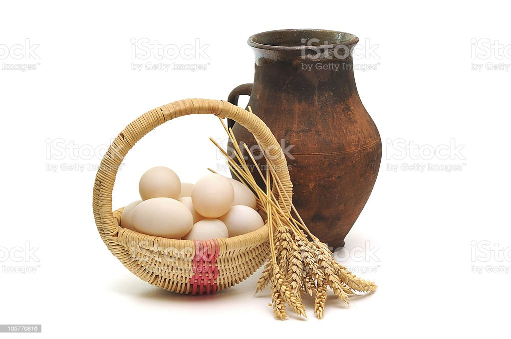 milk, eggs and grain royalty-free stock photo