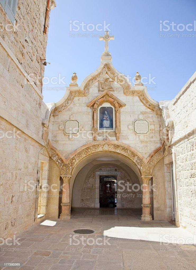 Milk Grotto church in Bethlehem, Palestine stock photo