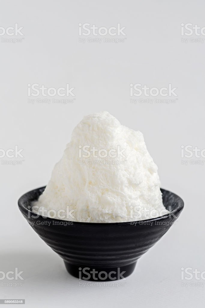 Milk ice shaved. stock photo