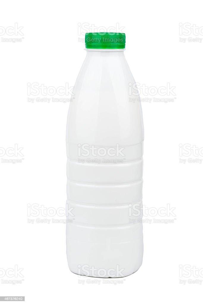 Milk in a bottle stock photo