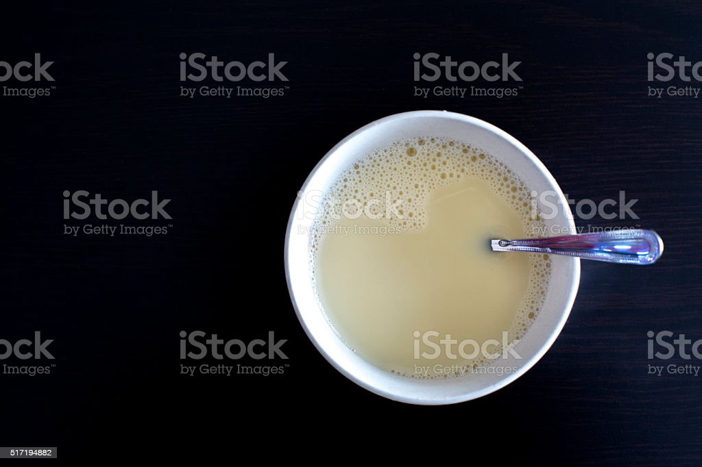 milk in bowl stock photo