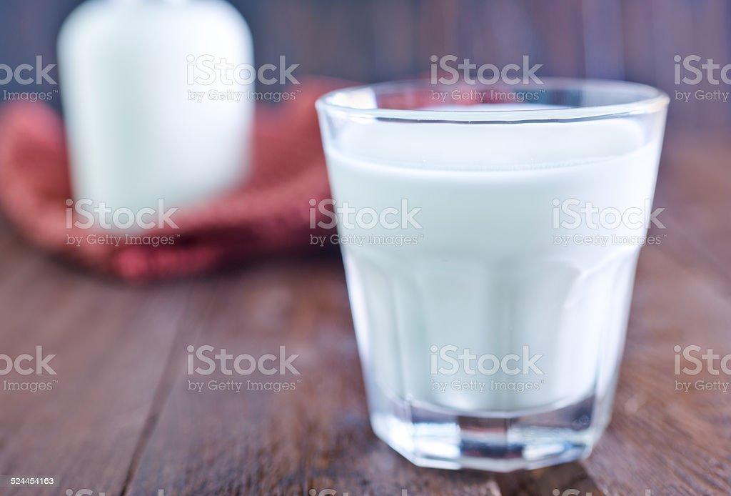 milk in glass stock photo