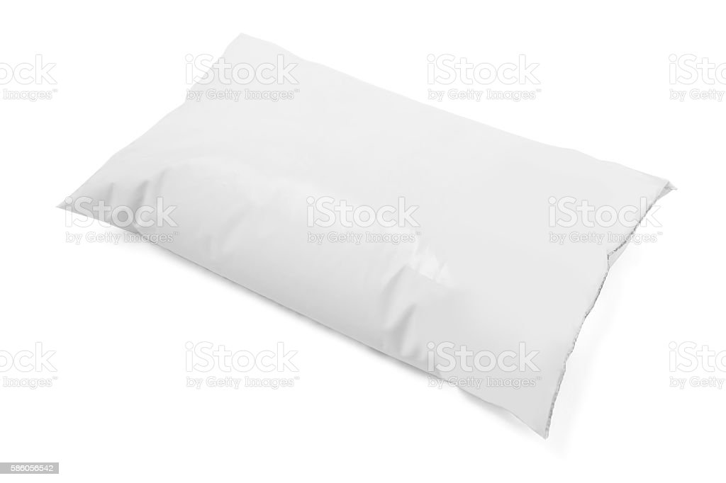 milk in soft plastic package stock photo