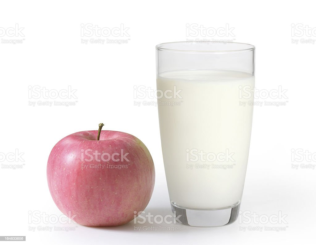 milk in the glass royalty-free stock photo