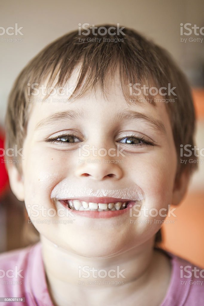 Milk is healthy! stock photo