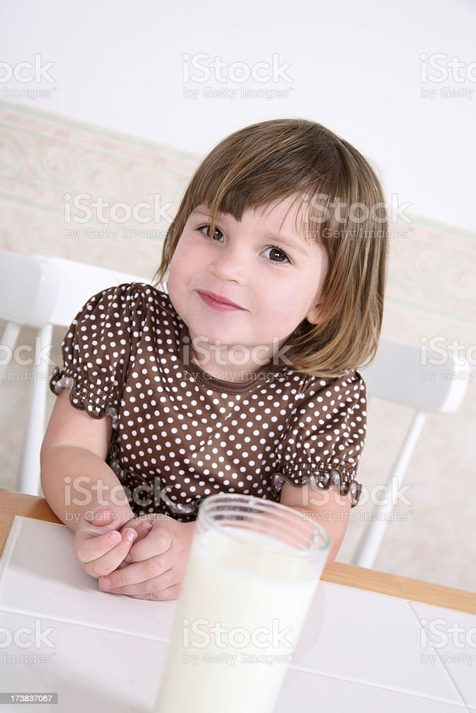 Milk is so good for me! royalty-free stock photo