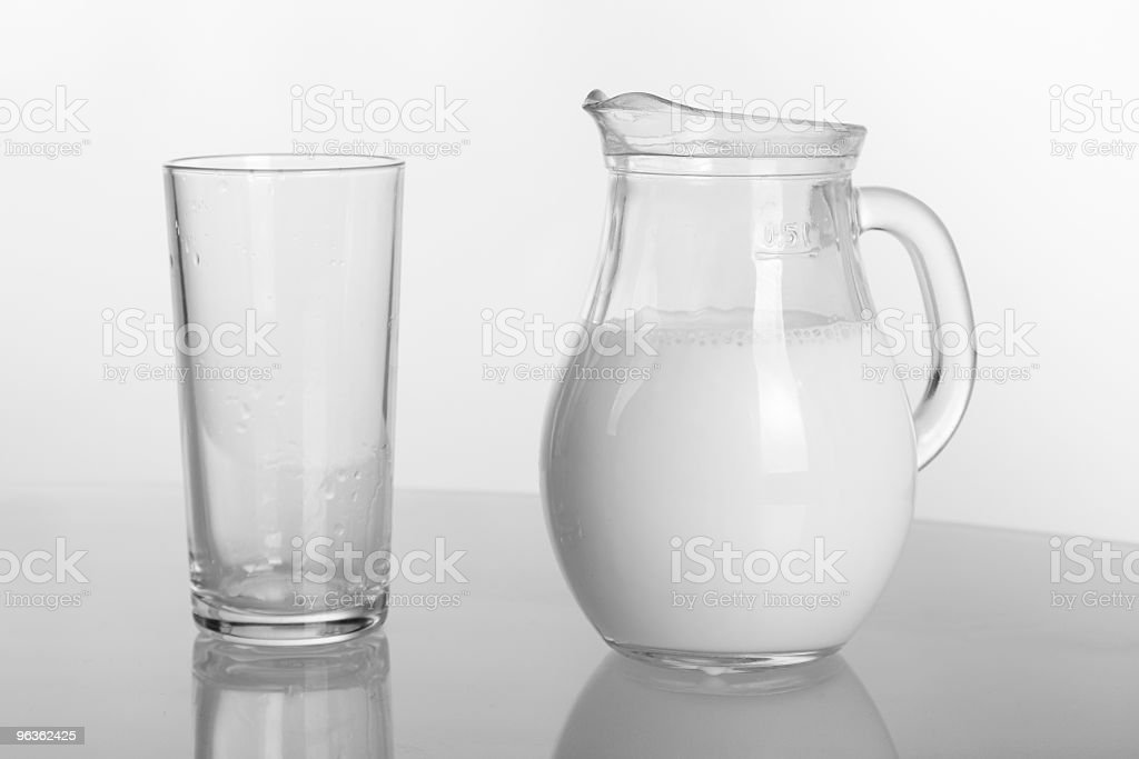 Milk Jug and Glass royalty-free stock photo