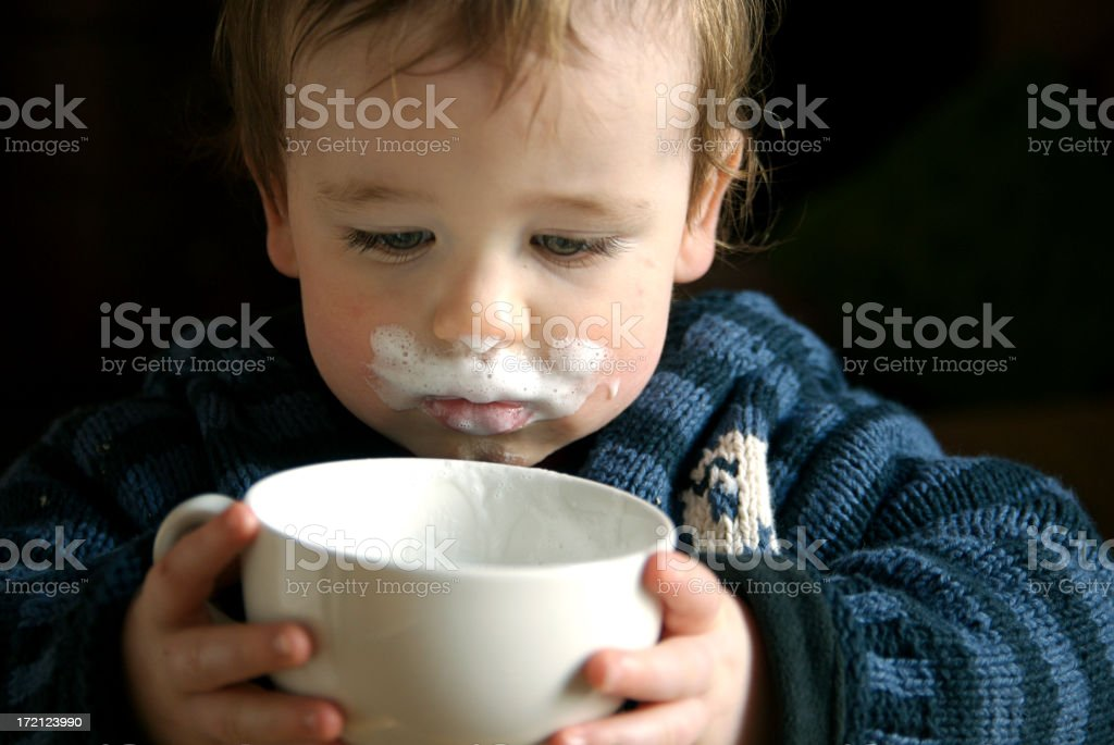 Milk moustache! royalty-free stock photo