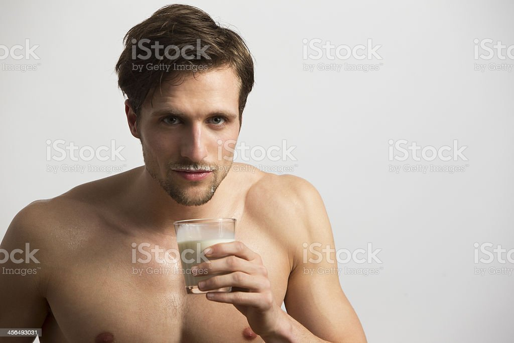 Milk Moustache stock photo