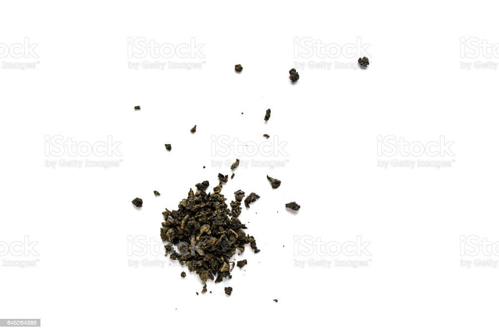 Milk oolong  tea on white background stock photo