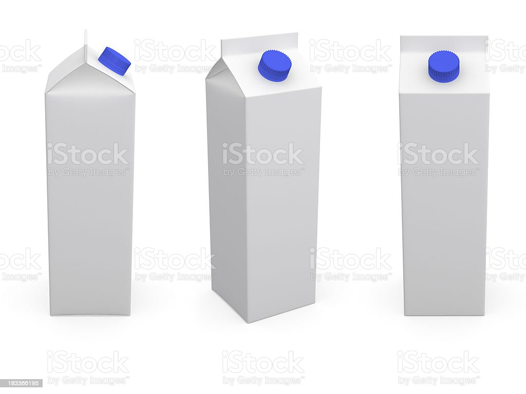 Milk or juice box. stock photo