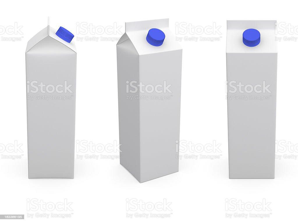 Milk or juice box. stock photo