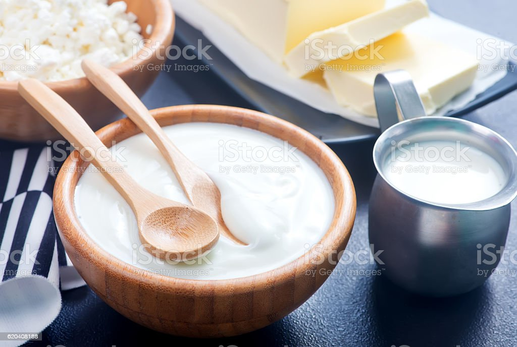 milk products stock photo