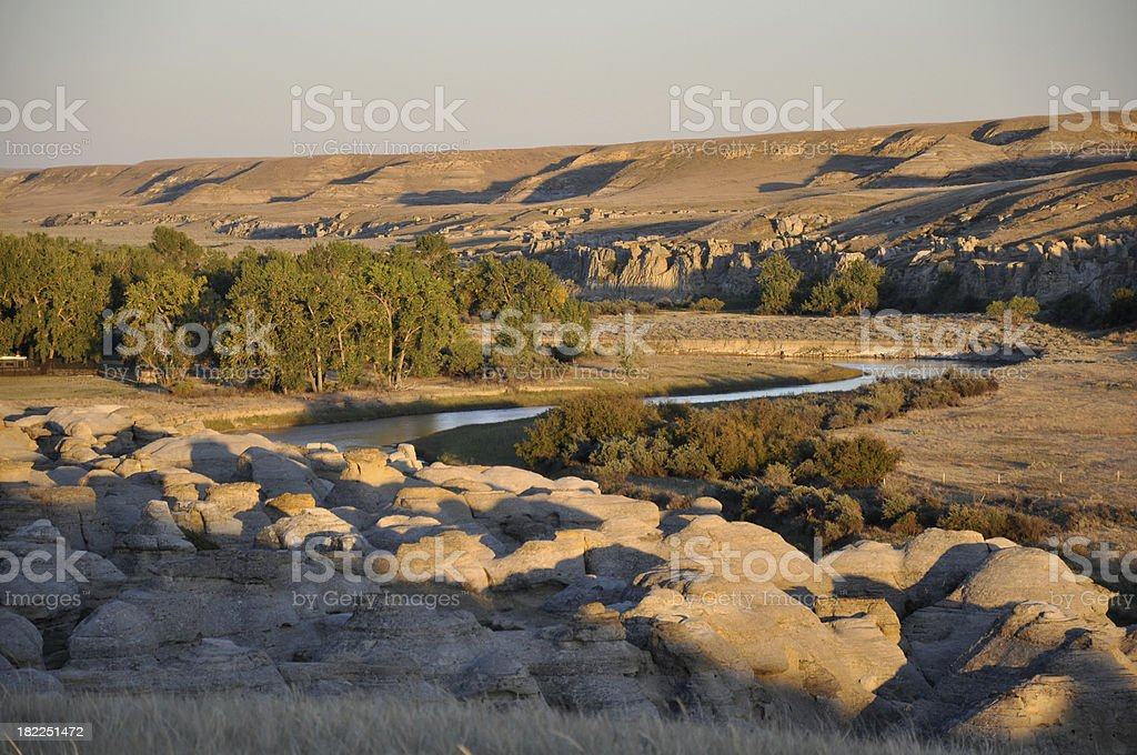 Milk River Canyon stock photo