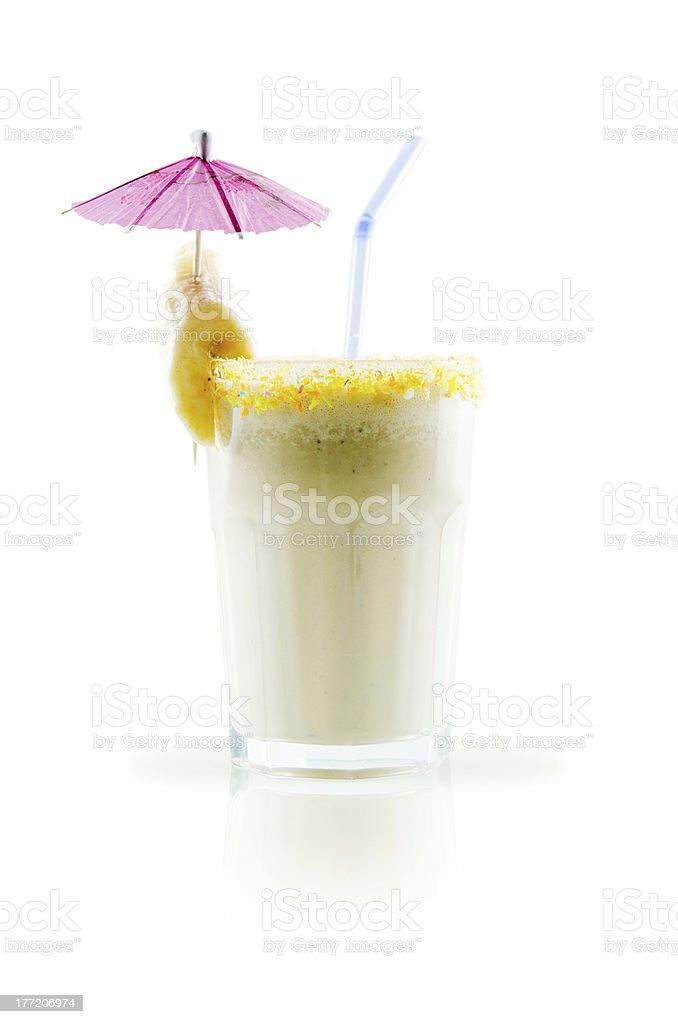 milk shake isolated on white background royalty-free stock photo