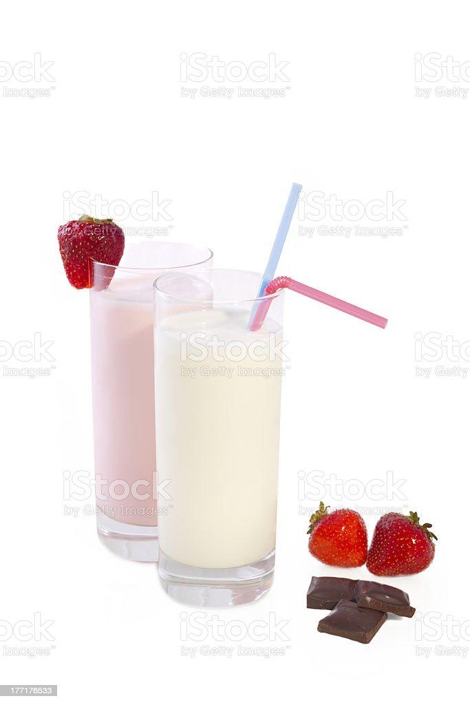 milk shakes royalty-free stock photo